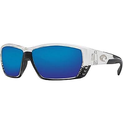 Costa Del Mar Tuna Alley Sunglasses - Crystal Frame - Blue Mirror 580G lens