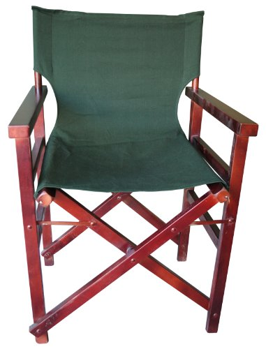 Dark Green Canvas Folding Chair Set of 2 Chairs