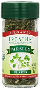 Frontier Organic Parsley Flakes, 0.24-Ounce Container (Pack of 6)