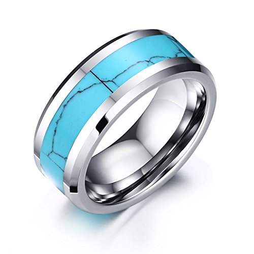 time-pawnshop-turquoise-tungsten-steel-men-ring-size-10-us