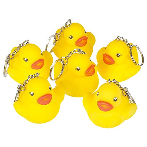 "Rhode Island Novelty 2"" Rubber Duck Keychain (12 Piece) - 1"