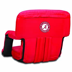 NCAA Alabama Crimson Tide Ventura Portable Reclining Seat, Red by Picnic Time