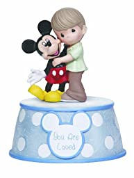 Precious Moments Disney Boy Holding Mickey Musical