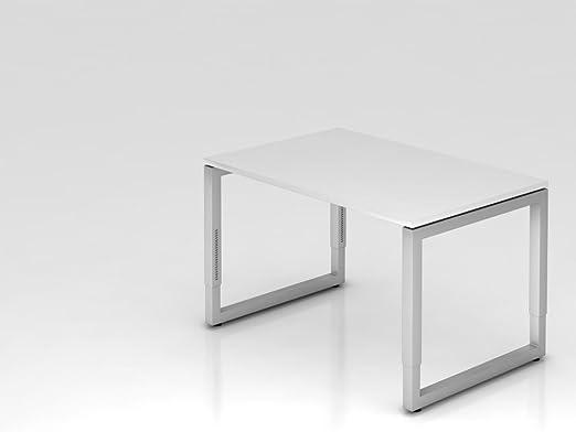 Supporto scrivania o rettangolare, 120x 80cm, colore: bianco