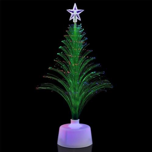 Green Light Up Fiber Optic Christmas Tree Centerpiece