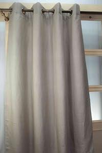 """100% linen natural color grommet curtains panels lined (52""""W X 84""""L)"""