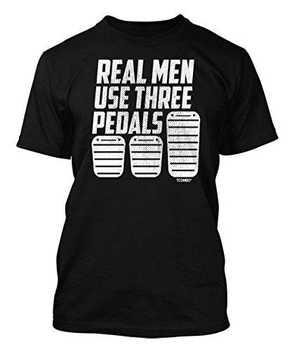 real-men-use-three-pedals-mens-t-shirt-xl-black