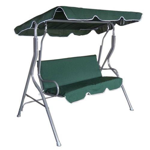 Hollywoodschaukel Gartenschaukel Schaukel Gartenliege Bank Gartenmöbel 3-Sitzer in Grün jetzt bestellen