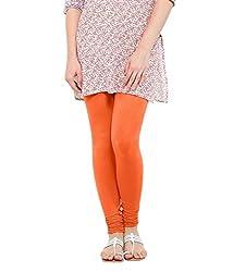 Lard Women's Cotton Leggings (Lard7_Orange_Free size)