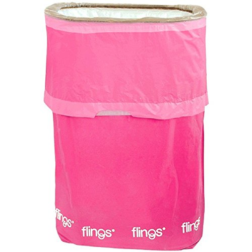 Amscan Flings Bright Patented Pop-Up Trash Bin, 22 x 15 x 10