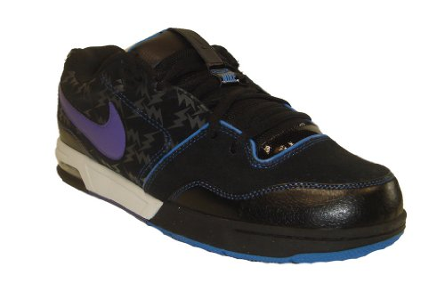 Nike NYX Air Flash Skateboard Skate Shoes Black Purple