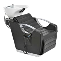 Hot Sale SHAMPOO BACKWASH SALON SHAMPOO SINK BOWL UNIT W/ ELECTRICAL FOOTREST - VICTORIA