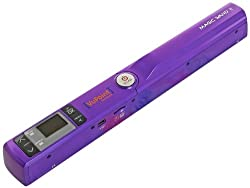 VuPoint Solutions PDS-ST441PU-VP Magic Wand Portable Scanner w/ Preview Display, 900 DPI Resolution, USB 2.0 (Purple)