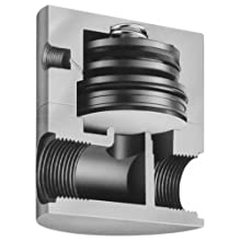 Plast-O-Matic BSDA Series Polypropylene Shut-Off Valve, For Corrosive and Ultra-Pure Liquids, NPT Female