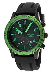Jorg Gray 1900 Series Chronograph - Lime Green Accents - Black Case & Strap