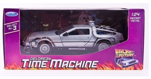 welly back to the future 1 delorean time machine 1.24 scale diecast model
