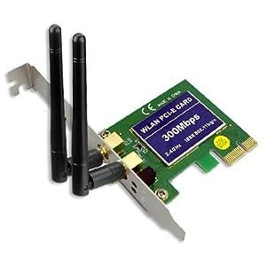 Familyus 300Mbps PCI-E 802.11 B/N/G Wireless Network Wifi LAN Card Wi-fi