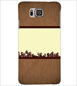 PrintDhaba Coffee Beans D-4320 Back Case Cover for SAMSUNG GALAXY ALPHA (Multi-Coloured)