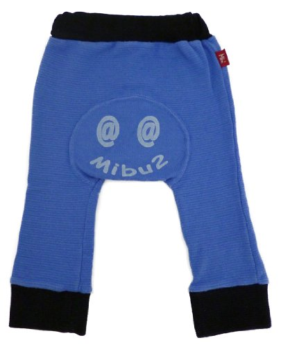 GOJO Mibu2 ミブツー パンツ ニコマークモンキー 裾リブ 90 ブルー