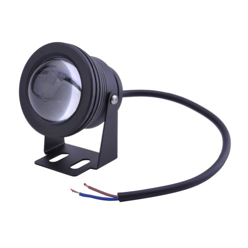 NEEWER®10W LED Underwater Spot Light 12V Pure White Light for Pond or Fountain (Black)