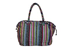 Osai Womens Striper Bag with Strings Multi Color