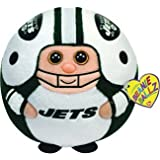 "Ty Beanie Ballz 13"" New York Jets Plush"
