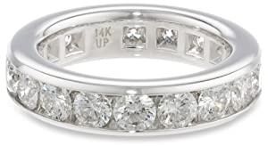 14k White Gold Channel-Set Diamond Eternity Band (3 cttw, H-I Color, SI2 Clarity), Size 7