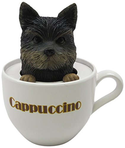 Idea Max Peek-A-Pet Bobble Heads Cappuccino Yorkshire Terrier (Tea Cup)