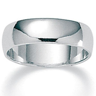 Sterling Silver Wedding Band Size: 10