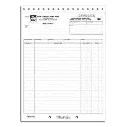 Large Invoice with Mailing Label