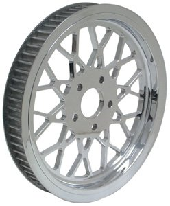 Mesh design 70 tooth Pulley Fits Big Twin 1980/1999 that uses a 1 1/2 inch wide rear belt Replaces HD# 40217-79A-by-Belt Drives Ltd.