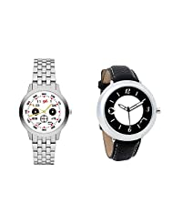Gledati Men's White Dial And Foster's Women's Black Dial Analog Watch Combo_ADCOMB0001815