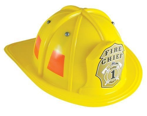 Aeromax Jr. Fire Fighter Helmet Yellow Adjustable Youth Size New - 1