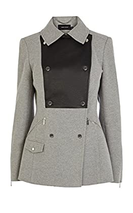 Grey reefer coat
