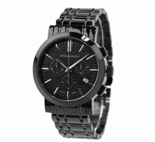 Burberry Men's BU1385 Chronograph Big Date Black Dial Watch