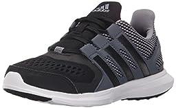adidas Performance Hyperfast 2.0 K Running Shoe (Little Kid/Big Kid),Grey/Black/Onix Grey,6 M US Big Kid