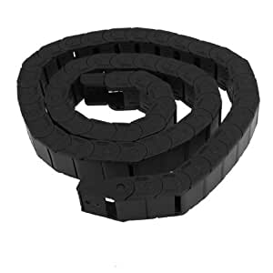 Machine Tool 1M Plastic Cable Drag Chain Wire Carrier 15x20mm