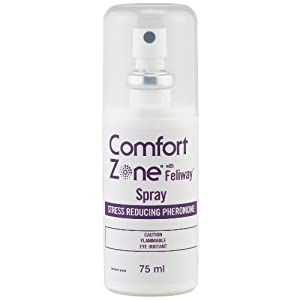 Comfort Zone with Feliway for Cats Spray, 75 Milliliters
