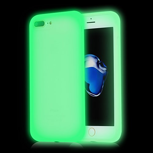 iPhone 7 Plus Case,Walcase [Shockproof] Luminous Silicone Gel Protection Shell Noctilucous  Light Up Shining Glow In The Dark Back Bumper Case Cover for 5.5 Inch Screen iPhone 7 Plus 2016,Fluorescent (Cool Glow For Iphone 4 compare prices)