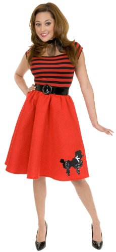Red Poodle 50's Adult Costume