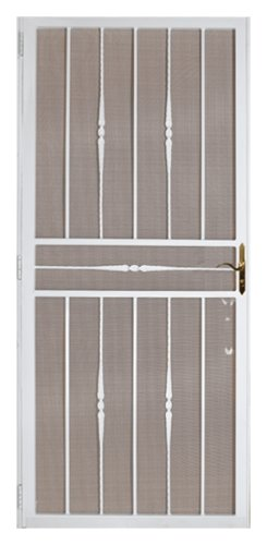 Cheap first alert 681fa36x80w venetian 36 inch by 80 for White security screen door