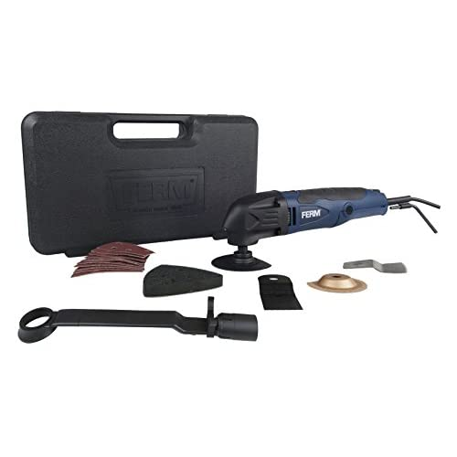 FERM Power Tools OTM1005 Ferm Oscillating Multitool Kit - 2.3A -16 Accessories - Led-Light - Dust Extractor - Storage Case,