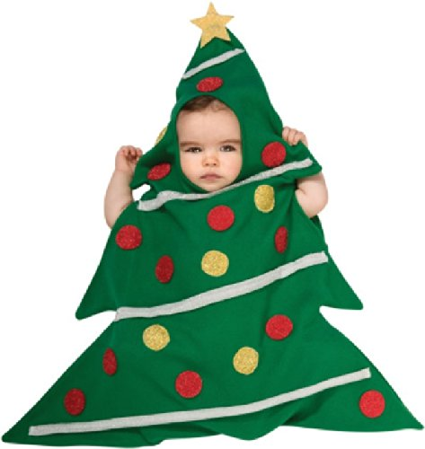 Rubie'S Costume Baby'S Christmas Tree Baby Bunting, Multicolor, Newborn front-331731