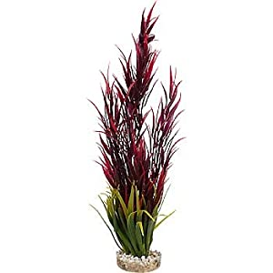 Blue Ribbon Pet Products ABLCB2014RD Wild Mountain Plant for Aquarium, Red