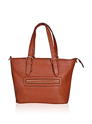 Carla Belotti Bolso asa al hombro Handbag Light Brown Sandrina (Marrón Claro)