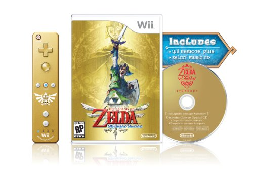 Legend of Zelda: Skyward Sword - Gold Controller (Wii)