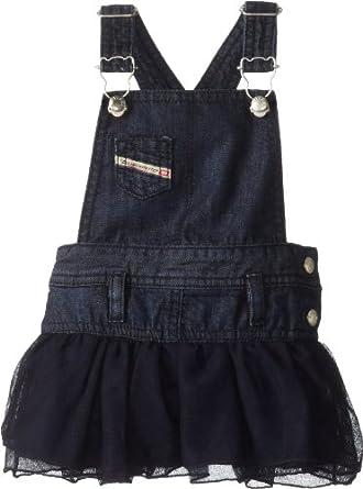 Diesel Baby-Girls Newborn Densib Dark Jumper Dress with Tulle Skirt, Indigo, 3 Months