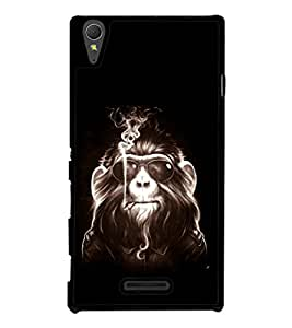 printtech Cool Monkey Glasses Smoke Back Case Cover for Sony Xperia T3