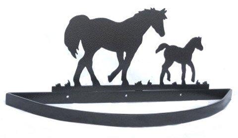 Cheap Smoky Mountain Metal Arts Horse and Colt Wall Mount Pot Rack (WMPR-2004)