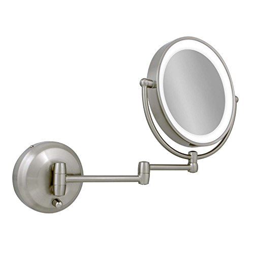 Zadro 10x 1x Next Generation Led Wall Mount Mirror Satin